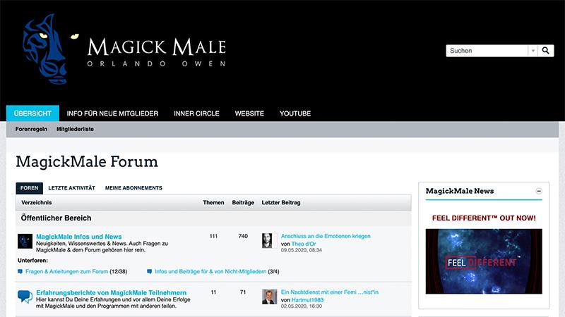 Bonus: MagickMale Forum