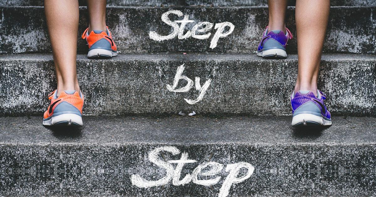 Erfolgreich werden mit kleinen Schritten